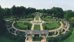 Aerial Photo of Rose Garden at Loose Park, Kansas City